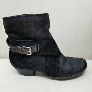 Miz Mooz Black Ankle Boots ELWOOD 8.5 9 Buckle
